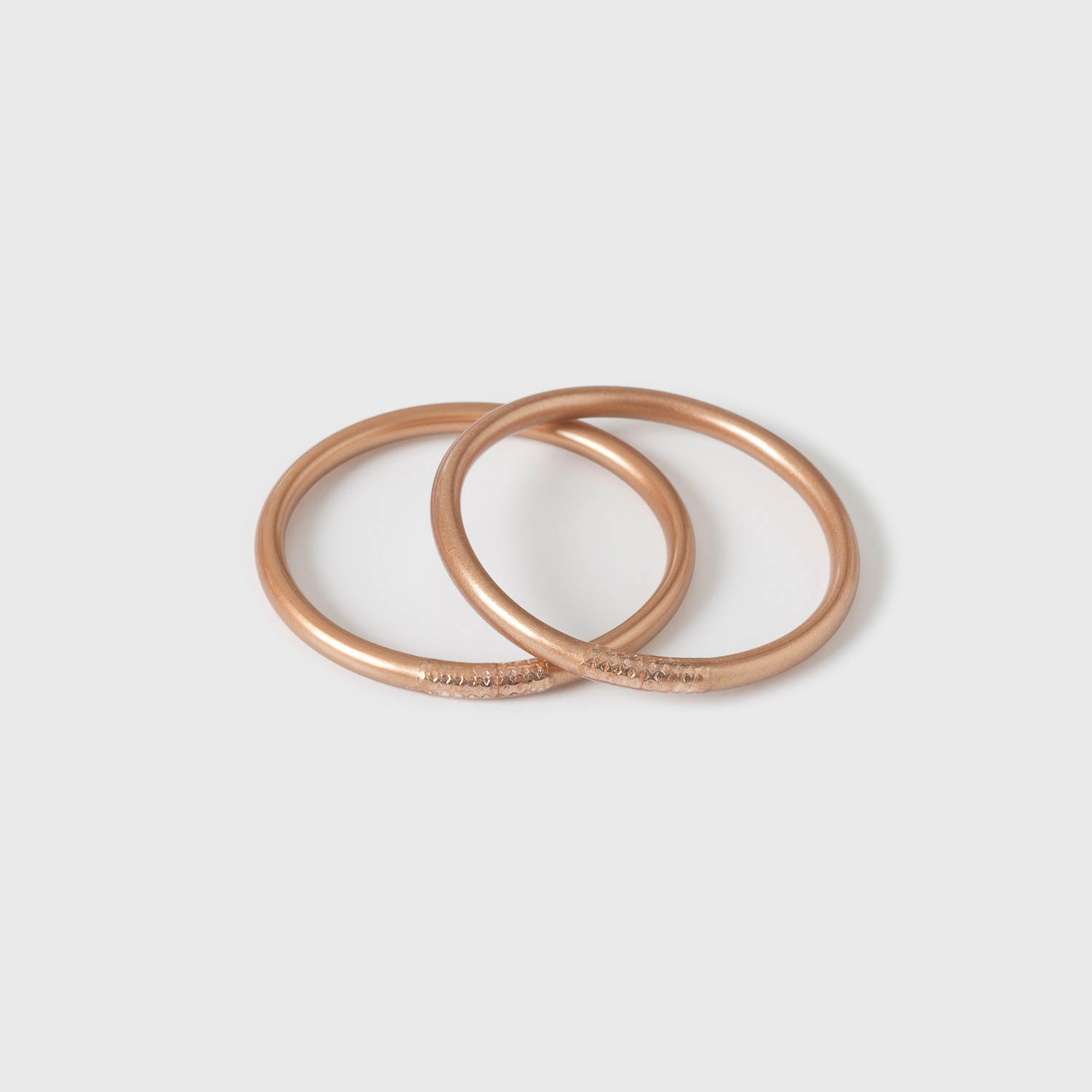 2 Copperleaf mantra bracelets; classic thickness
